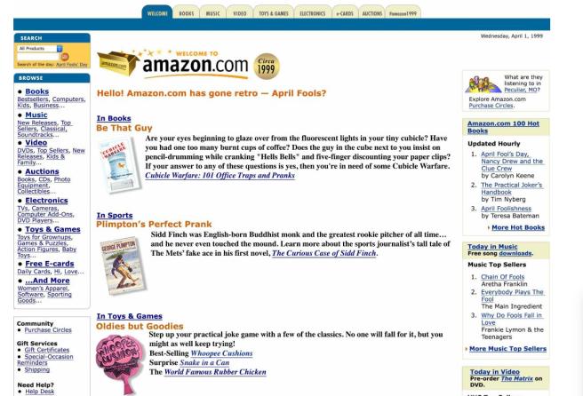 Amazon April Fools